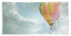 Hot Air Balloon Enchanted Clouds Beach Towel by Andrea Hazel Ihlefeld