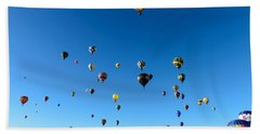 Hot Air Balloons Beach Sheet