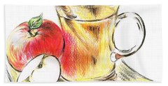 Hot Apple Cider Beach Towel