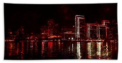 Hot City Night Beach Towel