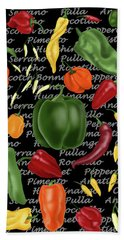 Hot For Chilis Beach Towel