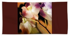 Hot Orchid Nights Beach Sheet by Holly Kempe