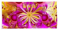 Hot Orchid Beach Sheet by Sylvia Thornton