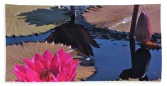 Hot Pink Tropicals Beach Towel
