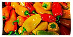 Hot Red Peppers Beach Sheet
