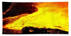 Beach Towel featuring the photograph Hot Rock And Lava by Pennie  McCracken