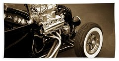 Classic Cars Beach Towel featuring the photograph Hot Rod Power  by Aaron Berg