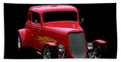 Hot Rod Beach Towel featuring the photograph Hot Rod Red by Aaron Berg