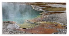 Hot Water At Yellowstone Beach Towel by Laurel Powell
