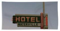 Hotel Waterville Neon Sign Beach Sheet