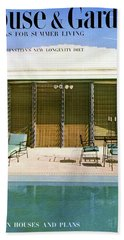 House & Garden Cover Of A Swimming Pool At Miami Beach Towel