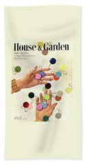 House & Garden Cover Of Woman's Hands With An Beach Towel