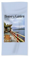 House & Garden Cover Of Women Sitting On The Deck Beach Towel