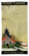 House And Garden Annual Building Number Cover Beach Towel