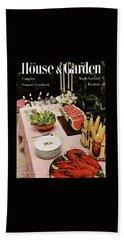 House And Garden Cover Featuring A Buffet Table Beach Towel