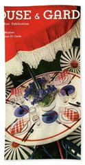 House And Garden Cover Featuring An Outdoor Table Beach Towel