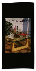 House And Garden Cover Featuring Brunch Beach Towel