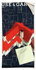 House And Garden Houses With Plans Cover Beach Towel