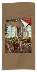 House And Garden Issue About Southern California Beach Towel