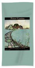 House And Garden Spring Garden Guide Beach Towel