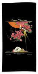 House And Garden Spring Gardening Guide Beach Towel
