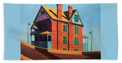 House By The Freeway Beach Towel