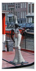 Beach Sheet featuring the photograph Houseboat Chanteuse by Allen Beatty