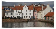 Houses At Pittenweem Harbor Beach Towel