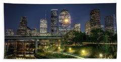 Houston On The Bayou Beach Towel