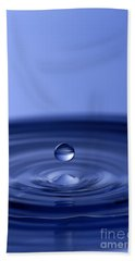 Hovering Blue Water Drop Beach Sheet