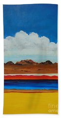 Beach Towel featuring the painting How Deep by Dan Whittemore