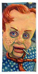 Howdy Von Doody Beach Towel by James W Johnson