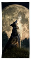Howling Wolf Beach Towel by Daniel Eskridge