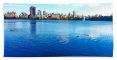 Hudson River Fall Landscape Beach Towel