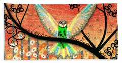 Beach Towel featuring the digital art Hummer Love by Kim Prowse