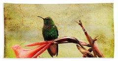 Hummingbird 1 Beach Sheet by Teresa Zieba