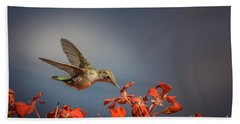 Hummingbird Or My Summer Visitor Beach Towel
