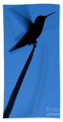 Hummingbird Silhouette Beach Towel
