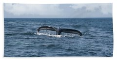 Humpback Whale Fin Beach Towel