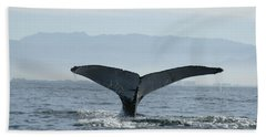 Humpback Whale Tail 3 Beach Sheet