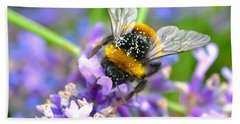 Hungry Bee Beach Towel by Tine Nordbred