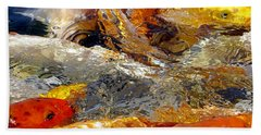 Hungry Koi Beach Sheet by Bob Slitzan