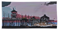 Huntington Beach Pier 1 Beach Towel