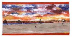 Huntington Beach Pier 3 Beach Towel