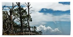 Beach Towel featuring the photograph Hurricane Trail by Faith Williams