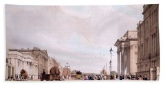 Hyde Park Corner, Looking Beach Towel by Thomas Shotter Boys