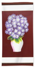 Beach Towel featuring the painting Hydrangea by Ron Davidson