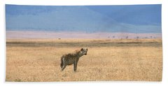 Hyena, Tanzania Beach Towel