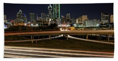 I-35e Dallas Beach Towel by Rick Berk