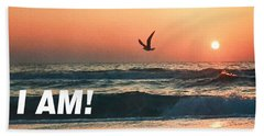 The Great I Am  Beach Towel
